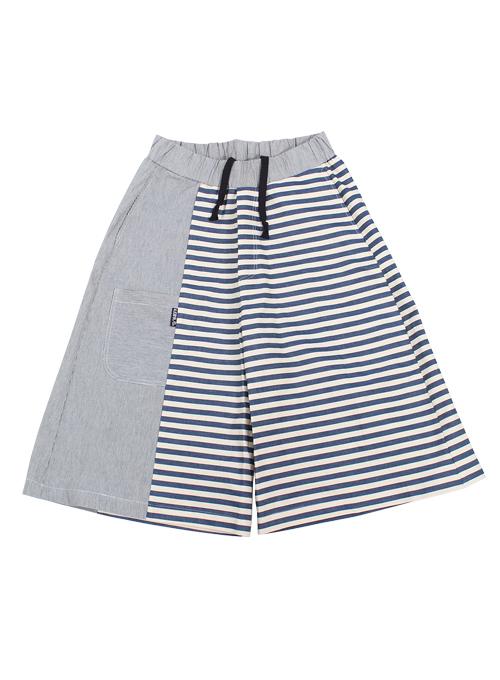 Stripe Twofold Wide Pants