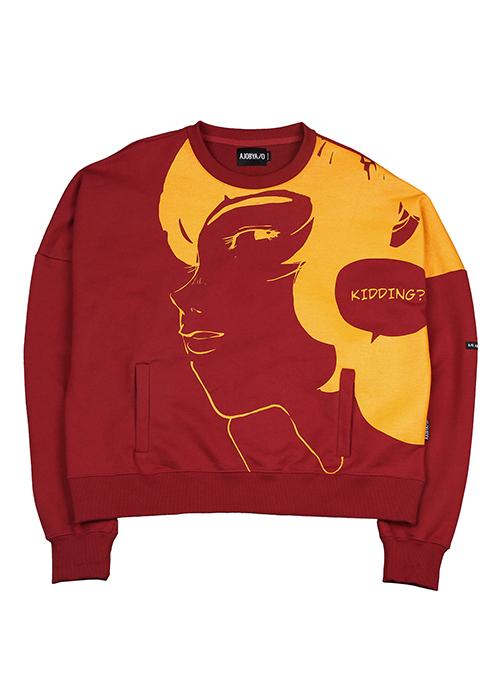 Manga Heavy Sweatershirt (Red)